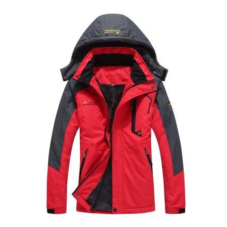 Large Size Female Women Mountain Waterproof Ski Jacket Windproof Rain Winter Inner Fleece Waterproof Jacket Outdoor Sport Warm Brand Coat Hiking Camping Trekking Skiing Femal Male Jackets