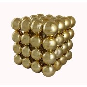 """16"""" Commercial Sized Shiny Gold Shatterproof Christmas Ball Ornament Cube"""