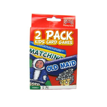 Bicycle Kids Games 2 Pack Playing Cards - Red Pack with Matching and Old Maid #1023757 (Game Playing)