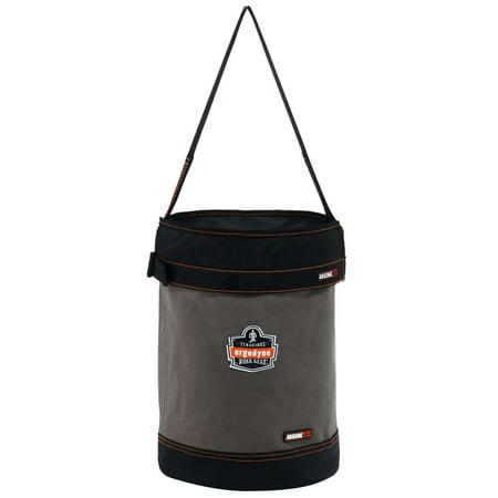Ergodyne Arsenal® 5930T Web Handle Canvas Hoist Bucket with Top, Gray, L