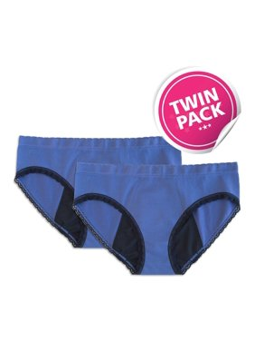72a4916468e1 Product Image StainFree Reusable Period Panty - 2 Pack Blue Hipster (XS)
