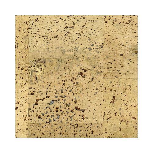 APC Cork Floor Tiles 12'' Solid Cork Hardwood Flooring in Pyramid Cr me