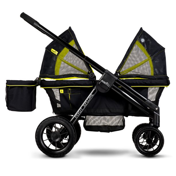 Evenflo Pivot Xplore All-Terrain Stroller Wagon - Black
