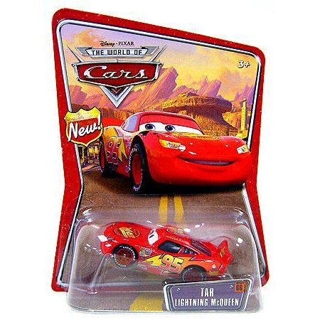 Disney Cars The World of Cars Series 1 Tar Lightning McQueen 1:55 Diecast Car (Fab 1 Diecast Car)