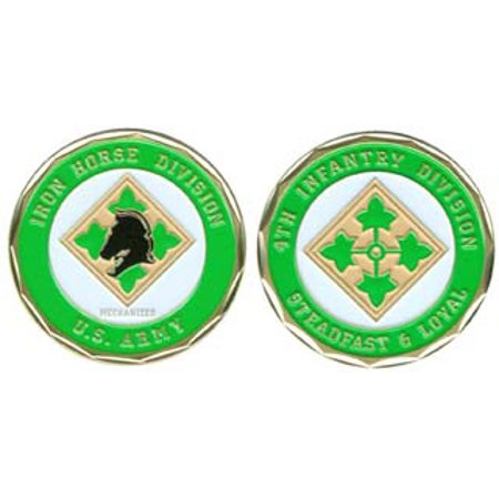 Infantry Division Challenge Coin (U.S. Army 4th Infantry Division 1-1/8 Inch Challenge Coin )