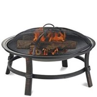 Brushed Copper Wood Burning Outdoor Firebowl, 29.3 in. Dia.