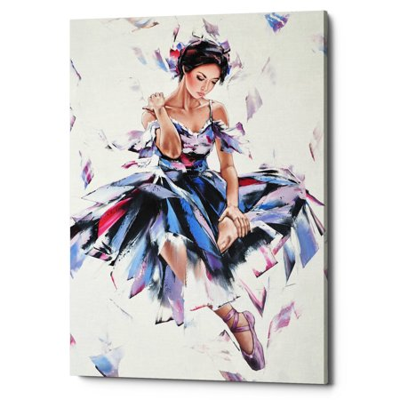 "Epic Graffiti ""Ballerina"" by Alexander Gunin, Giclee Canvas Wall Art, 18""x26"""