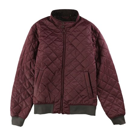 Barbour Mens Romer Quilted Jacket, Purple, Large ()