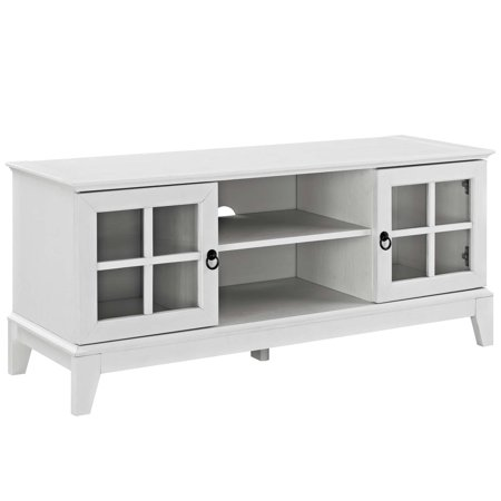 Modern Contemporary Urban Design Living Room Lounge Club Lobby Media TV Stand Console Table, Wood, White