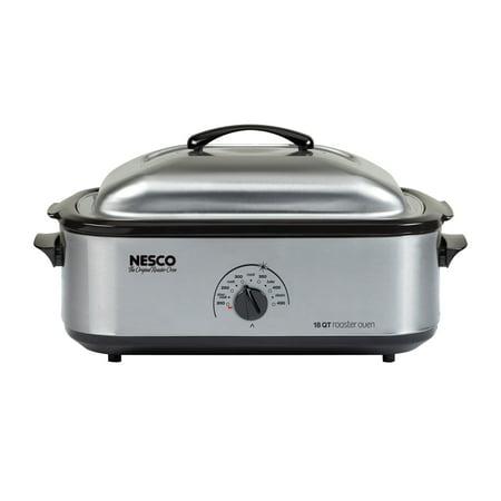- NESCO Professional 18 Quart Stainless Steel & Black Roaster Oven, 1 Each