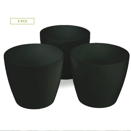 Mind Reader 3 pc Multi Purpose Trash Bin Set for Bath, Counter Top, Coffee Station, Black - 8