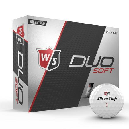 Wilson Staff Duo Soft Golf Ball, 12 pack, White