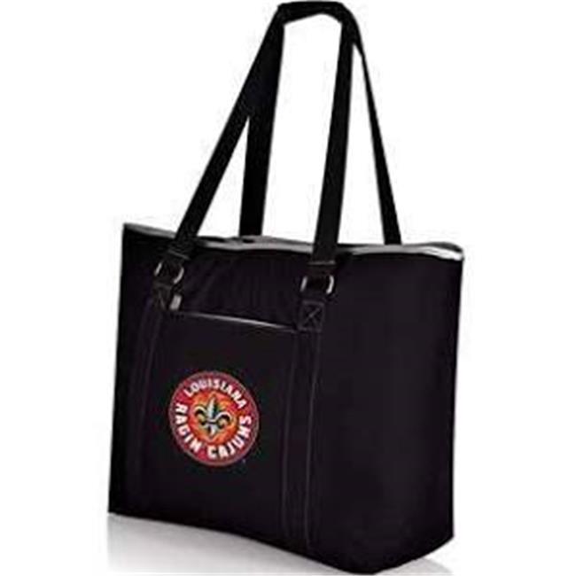 Picnic Time 598-00-175-284-0 University of Louisiana Lafayette Ragin Cajuns Digital Print Tahoe Tote Bag, Black - image 1 de 1