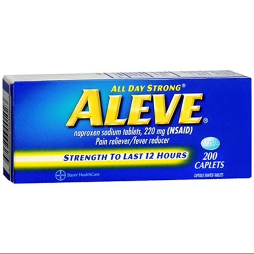 Aleve Caplets 200 Caplets (Pack of 2)