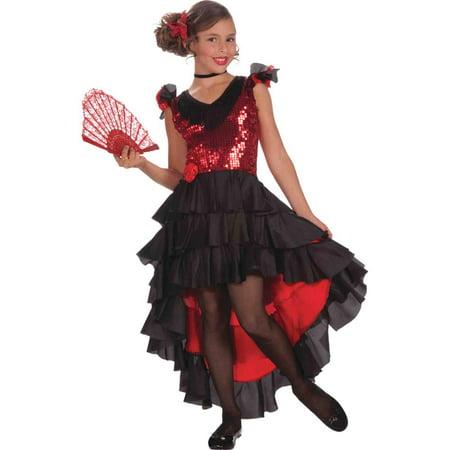 Spanish Dancer Kids Costume - Spaniard Costume