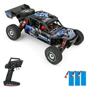 Wltoys 124018 High Speed Racing Car 60km/h 1/12 2.4GHz RC Car Off-Road Drift Car RTR 4WD Aluminum Alloy Chassis Zinc Alloy Gear with 3 Battery