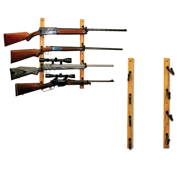 hold up displays rifle or fishing rod wall display rack