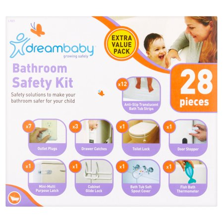 Dreambaby Bathroom Safety Kit Extra Value Pack, 28 count