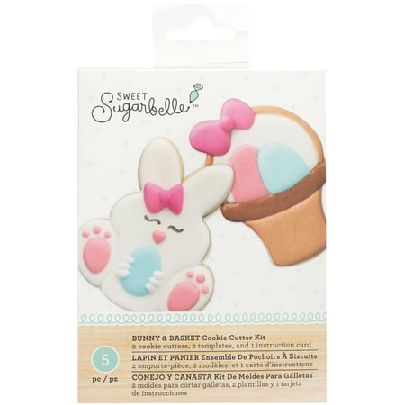 American Crafts Sweet Sugarbelle Cookie Cutter Kit 5pcs-Bunny & Basket (Cookie Craft)