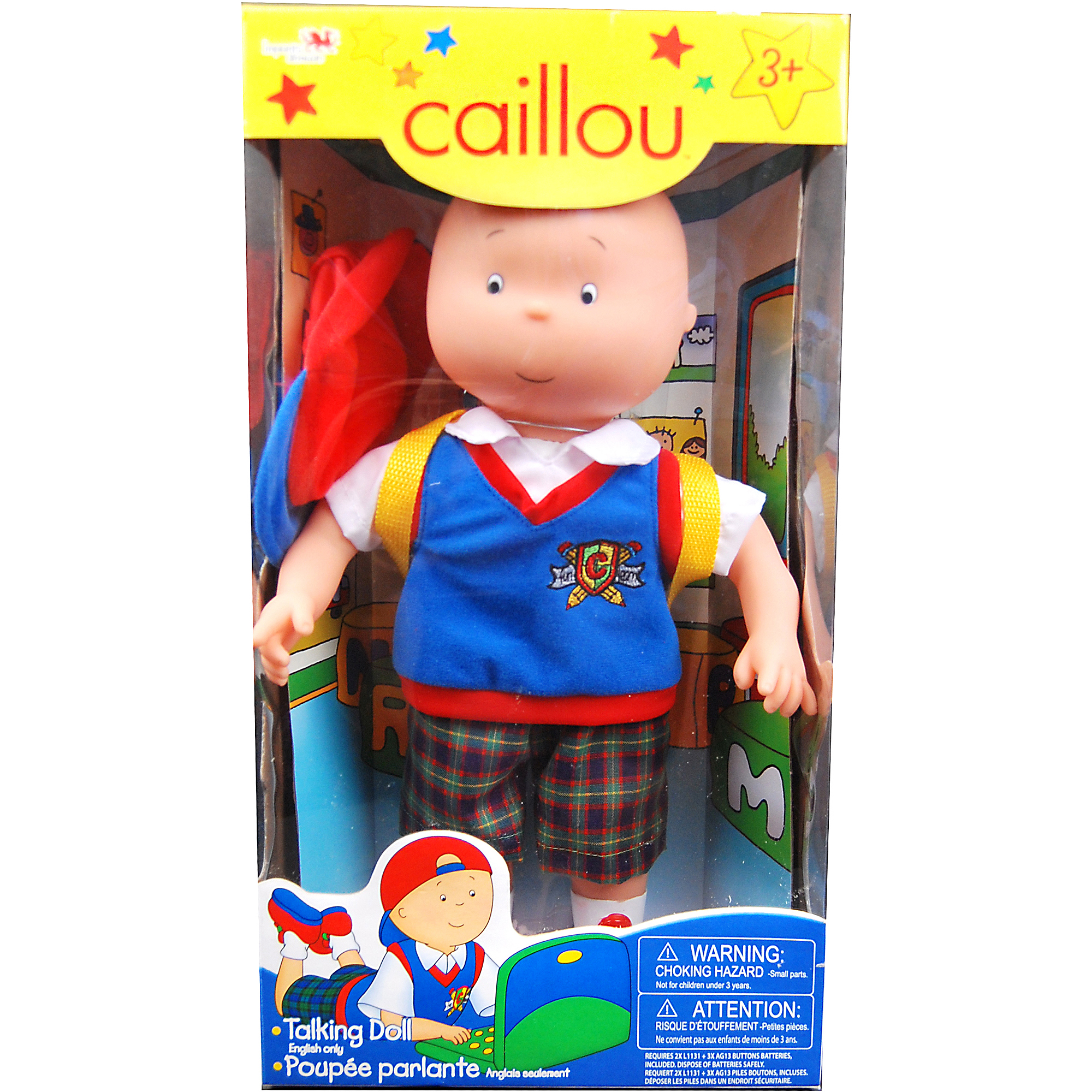 "Caillou 13"" Feature Talking Doll, Yellow"