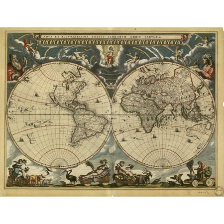 World Map Th Century Poster Print By Science Source Walmartcom - 17th century world map