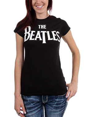 9aa602bae Product Image The Beatles Logo Universal Women's Babydoll T-Shirt. Bravado