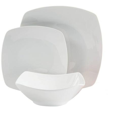 Zen Buffetware 12 pc Dinnerware Set - Square - White - Fine - Lenox Tuxedo Fine Dinnerware