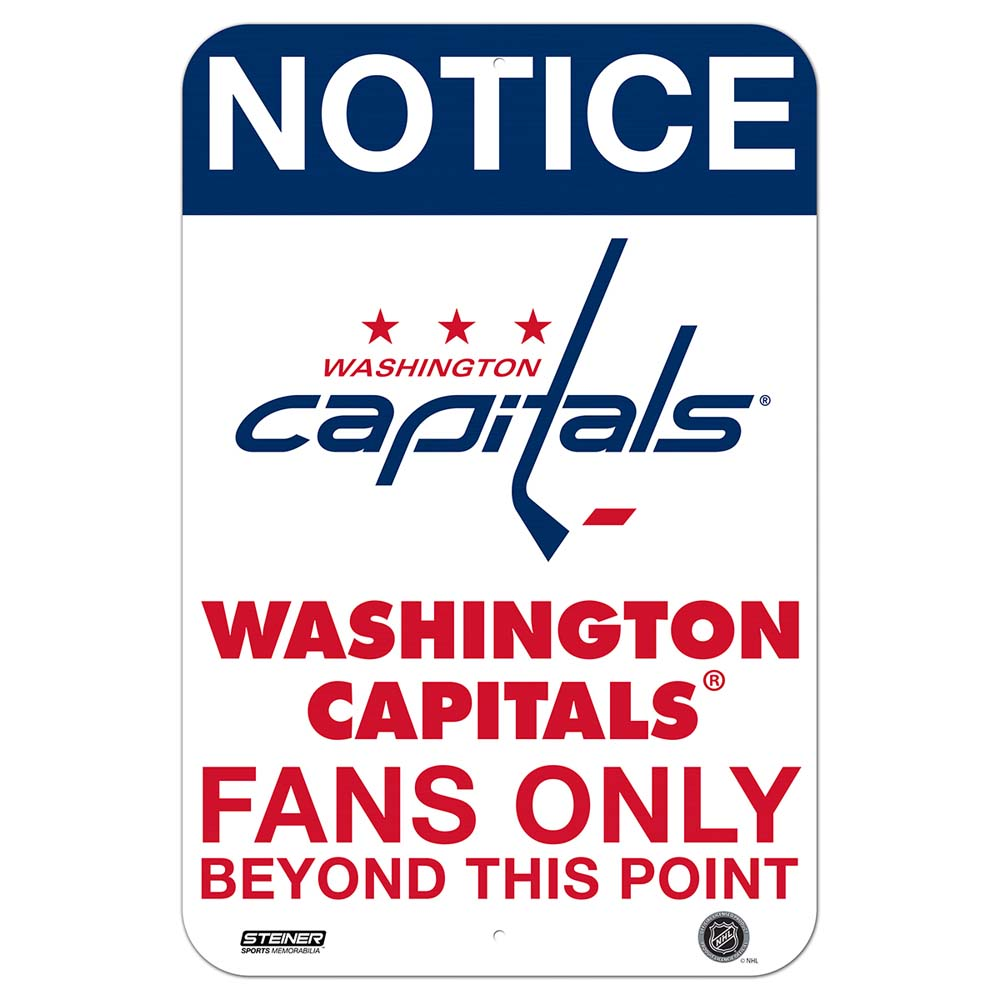 Washington Capitals Fans Only 8x12 Aluminum Sign