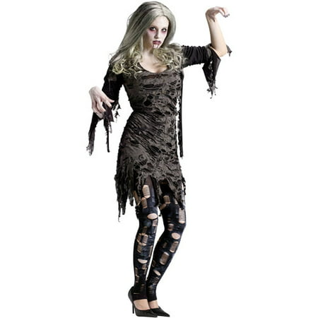 Living Dead Adult Halloween Costume (Halloween Dead Fairy Makeup)