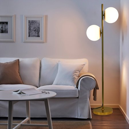 Lncdis Sphere Led Floor Lamp With Two