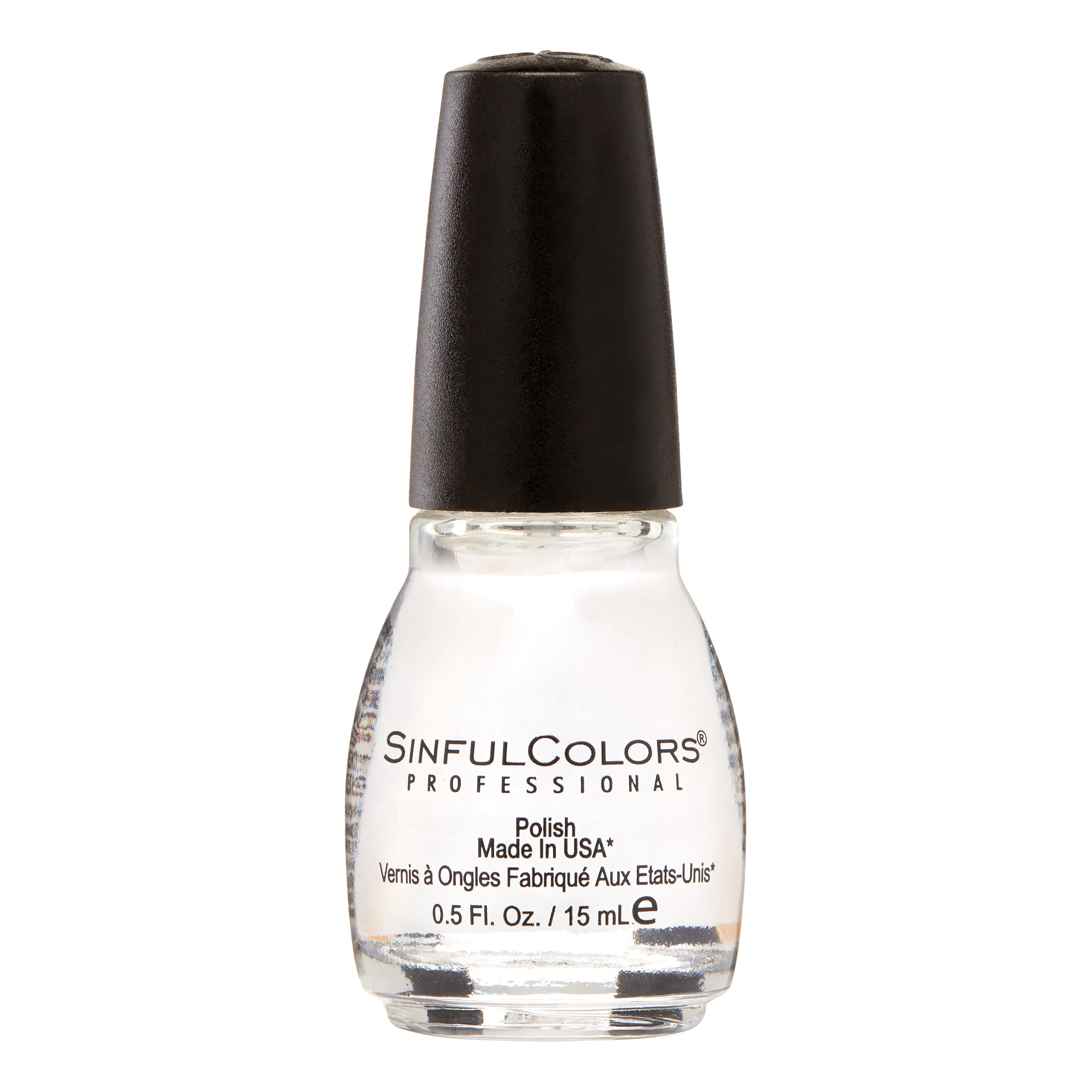 Sinful Colors Professional Nail Polish, Clear Coat, 0.5 Fl Oz ...
