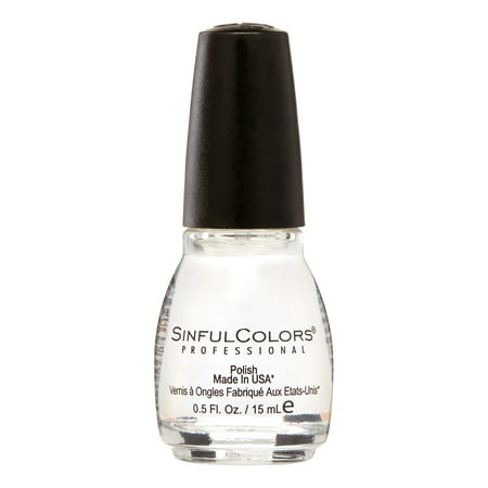 Sinful Colors Nail Polish, Clear Coat, 0.5 fl oz Clear Nail Polish