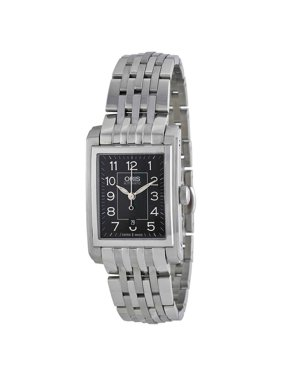 Oris Automatic Black Dial Stainless Steel Ladies Watch 561-7656-4034MB