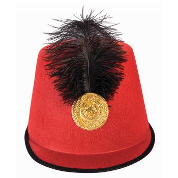 ADULT-SOLDIER HAT - RED