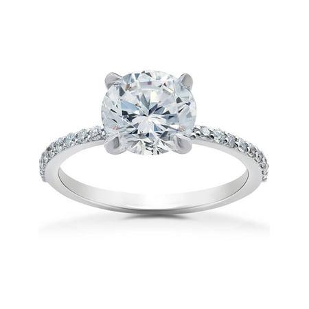 1/4 ct Lab Grown Diamond Sophia Engagement Ring Setting (Engagement Diamond Ring Settings)