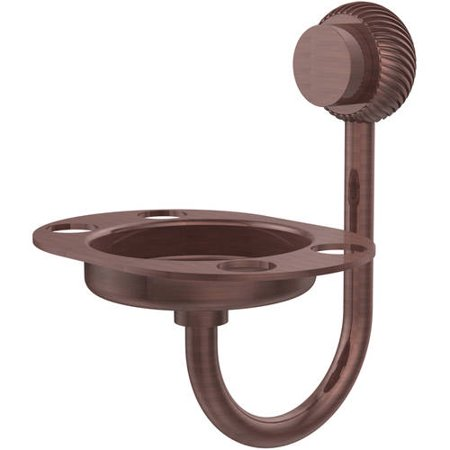 Venus Collection Tumbler and Toothbrush Holder with Twisted Accents in Antique Copper