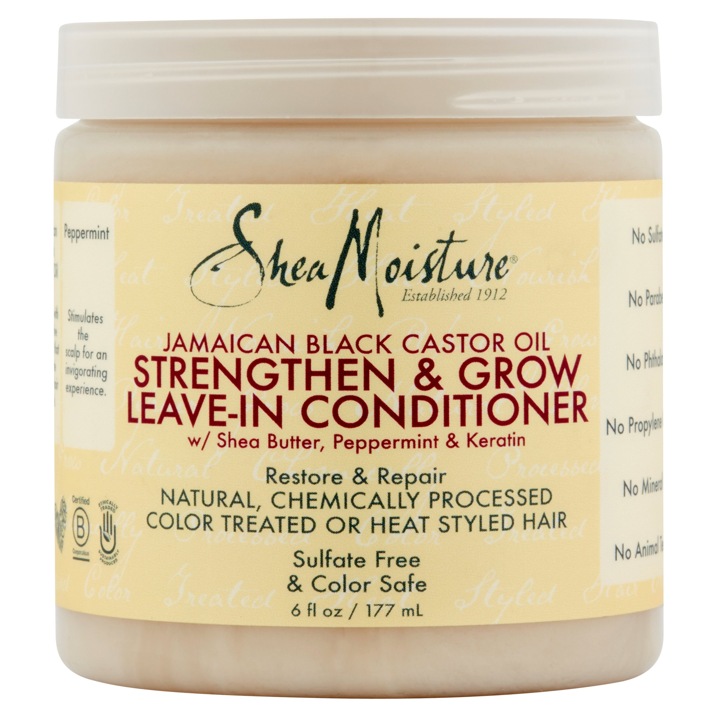 Shea Moisture Jamaican Black Castor Oil Strengthen & Grow Leave-In Conditioner, 6 fl oz