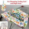 Portable Baby Shopping Cart and High Chair Cover Protector for Baby Toddlers Infant Child