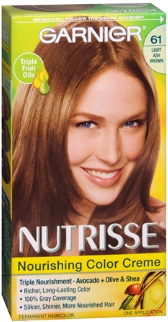 Garnier Nutrisse Haircolor 61 Mochaccino Light Ash Brown 1 Each