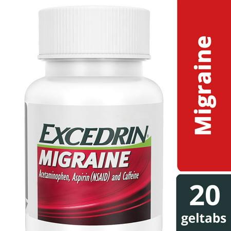 Excedrin Migraine Geltabs for Migraine Relief, 20