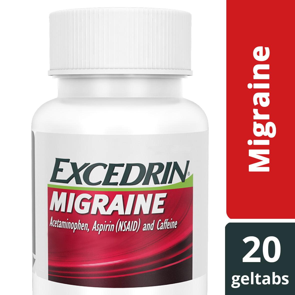 Excedrin Migraine Geltabs for Migraine Relief, 20 count