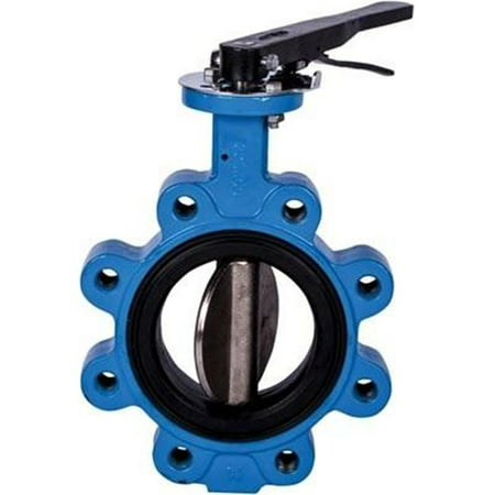American Valve 7211L 3 3 in. 316 Ductile Iron Disc Butterfly Lug Valve
