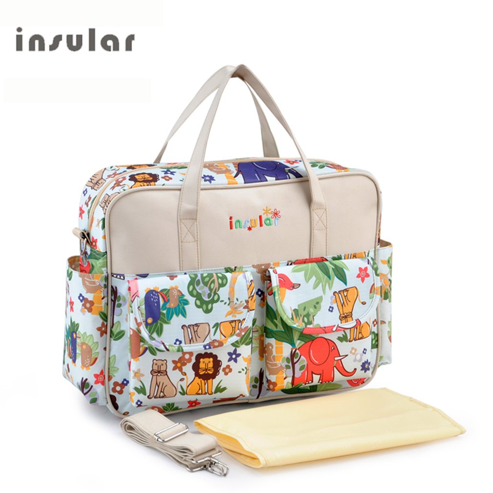 INSULAR Baby Boom Duffle Diaper Bag with Changing Pad, Multifunctional Waterproof Tote Bag, Single Shoulder... by OUTAD