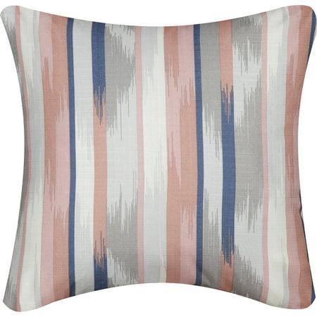 Mainstays Blush Brush Decorative Throw Pillow, 16