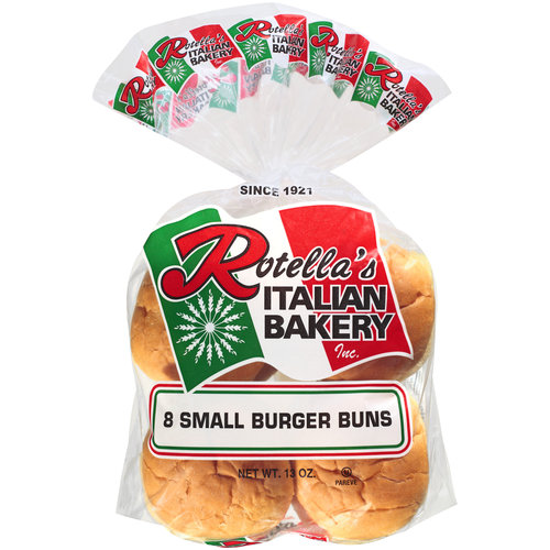 Rotella's Italian Bakery Small Burger Buns, 8 count