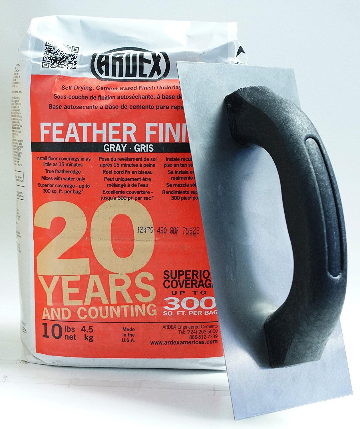 Ardex Feather Finish with Floor Patching Trowel by