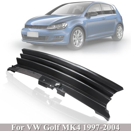 Black Badgeless Debadged Front Sports Grille Grill For AUTO TUNING VW GOLF 4 MK4 97-04 - image 7 de 7