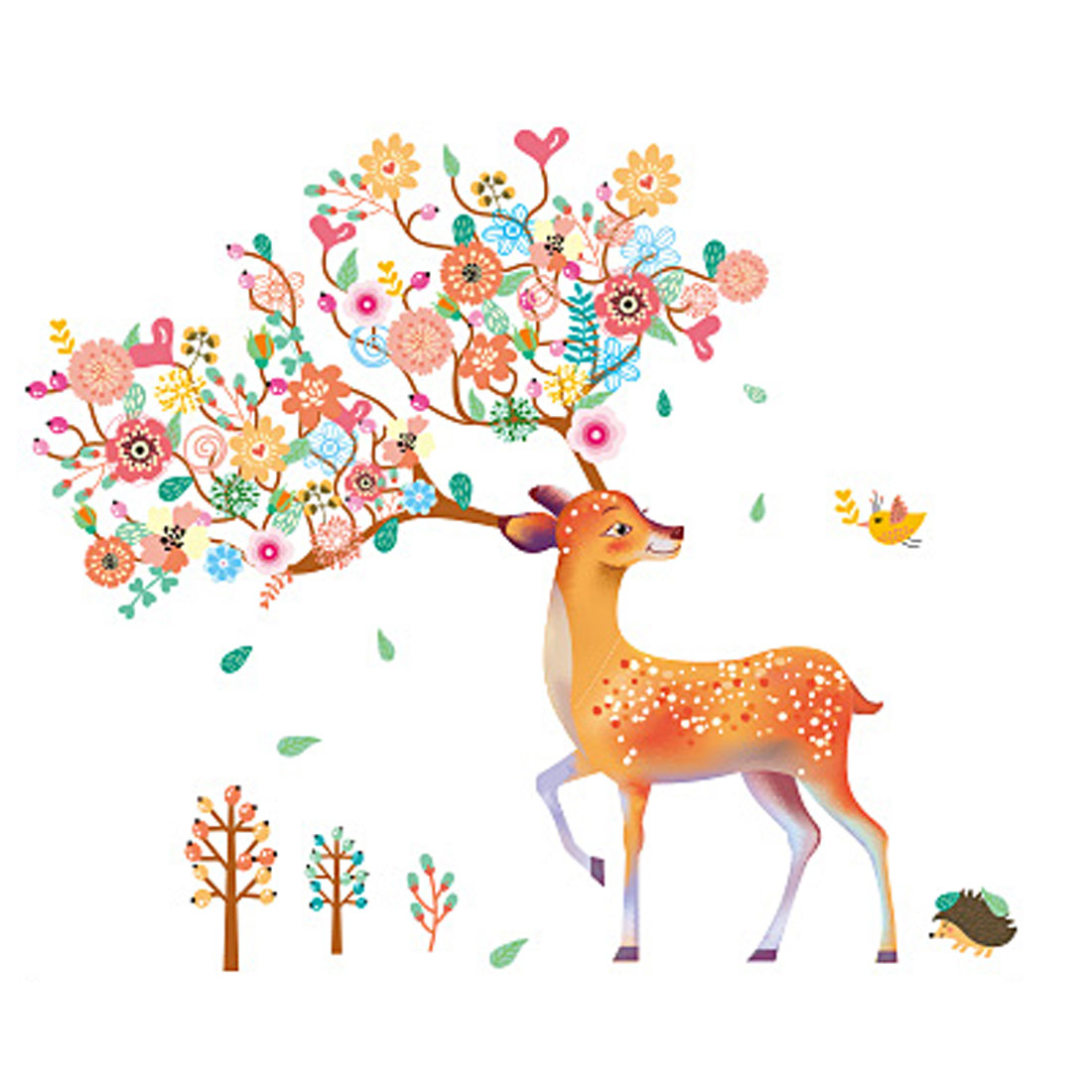 Room PVC Deer Pattern Self-adhesive Window Film Wall Sticker Decal Multicolor - image 3 of 3