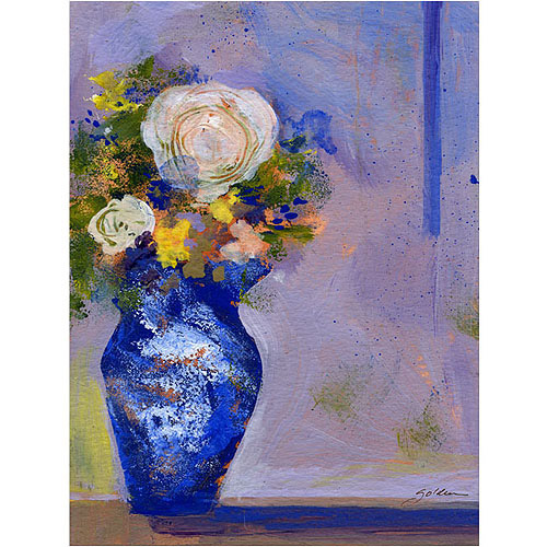 "Trademark Art ""Blue Vase"" Canvas Art by Shelia Golden"
