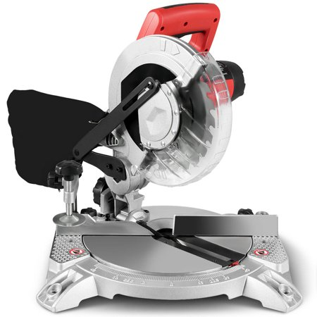 Costway 8'' Compound Miter Saw Single Bevel Sliding Glide 2HP 11Amp 5500RPM Electric Tool